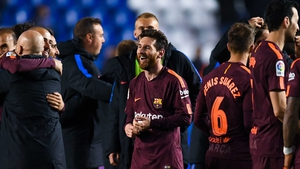 Lionel Messi helped Barcelona win yet another league crown