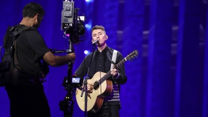 Ireland's Eurovision hopeful Ryan O'Shaughnessy finishes first rehearsal in Lisbon