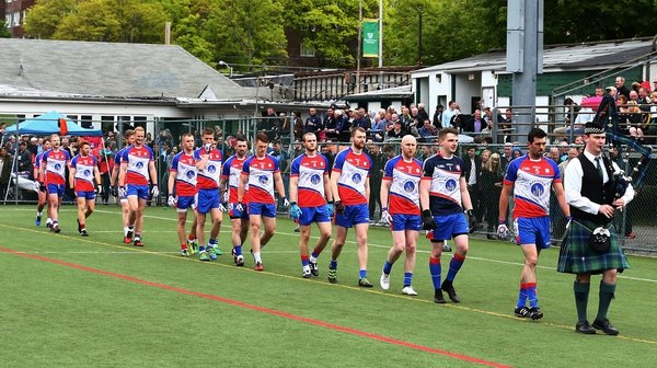 The New York team in parade prior to last year's clash with Leitrim