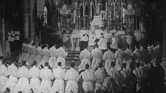 Ordination ceremony in St Patrick's College Maynooth, County Kildare (1968)