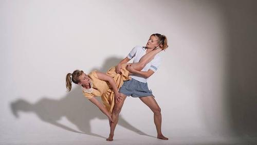 Deirdre Griffin and Julie Koenig in Junk Ensemble's Dolores, part of this year's Dublin Dance Festival