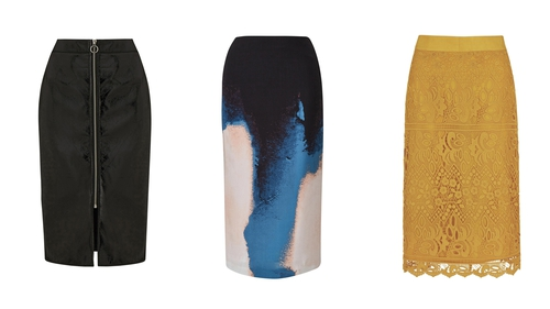 The pencil skirt is back