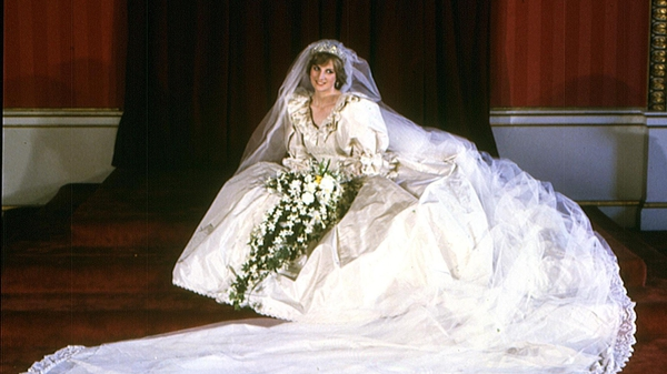 Diana's historic gown is now on display at Kensington Palace.