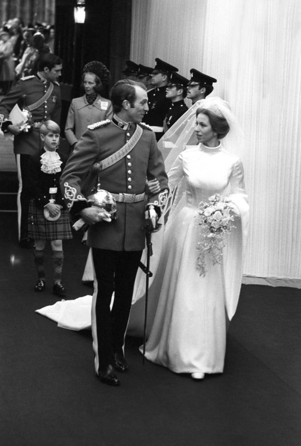 Captain Mark Phillips and Princess Anne (PA)