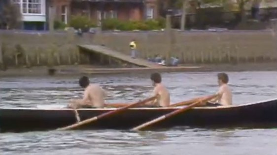 Currach Racing On The Thames