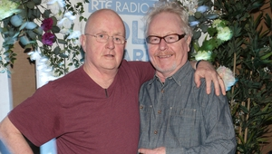Christy Moore and Paul Brady  at the launch of the RTÉ Radio 1 Folk Awards at Vicar Street, Dublin