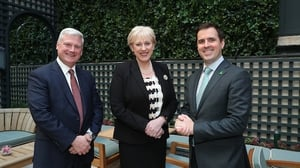 Kevin Clark CEO of Aptiv, Minister Heather Humphreys and Martin Shanahan, IDA Ireland's CEO pictured today in Dublin