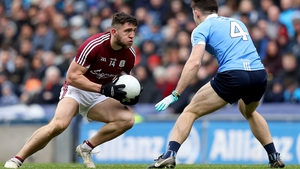 Damien Comer hit three points in the Allianz League final in Croke Park