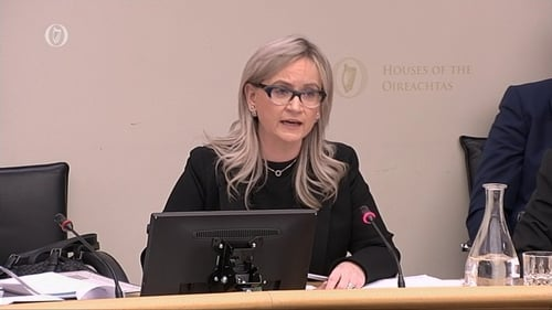 Dee Forbes and other executives from the broadcaster are before the Joint Oireachtas Committee on Communications