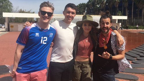 Eurovision contestants Ari Olafsson, Ryan O'Shaughnessy and Swiss stars Coco and Steph