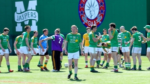 The Leitrim players warm-up for their recent game in New York in 2013