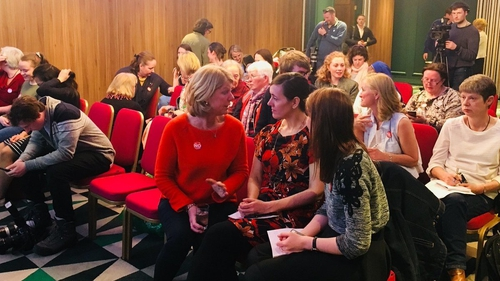 Nurses and midwives met in Dublin city centre today