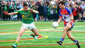 New York and Leitrim are locked in a tight and nervy battle in Gaelic Park