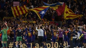 Barca celebrate with their fans