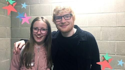 Amelia Phelan and Ed Sheeran. Twitter/PhelanVicky