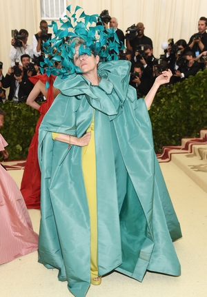 Francis McDormand chose an impressive Valentino number for the 2018 gala. Theme: Heavenly Bodies: Fashion and the Catholic Imagination.