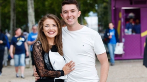 Ryan O'Shaughnessy and his girlfriend Ailbhe in Lisbon