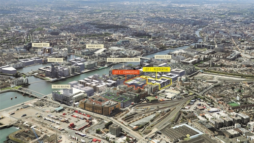 The 5.91-acre site has planning permission for 347 residential units, with a planning application for over 330,000 sq ft of office space pending