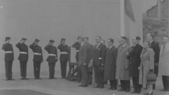 James Connolly Commemoration ceremony, Arbour Hill Cemetery, Dublin (1963)