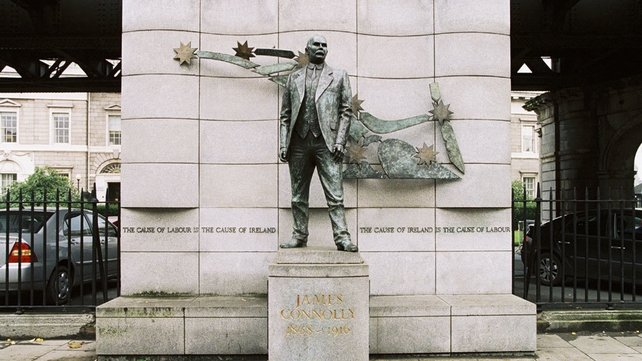 James Connolly statue on Beresford Place, Dublin (2005)