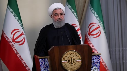 Iranian President Hassan Rouhani holds a press conference on Trump's withdrawal decision from Iran nuclear deal in Tehran. Photo: Iranian Presidency/ Handout