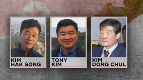 Who are the three Americans released by North Korea?