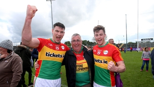 John Murphy (left) celebrates the win over Wexford in last year's championship