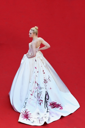 Elle Fanning in Vivienne Westwood Haute Couture in 2017.