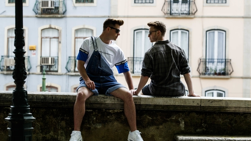 Irish Eurovision dancers Alan McGrath and Kevin O'Dwyer. Picture: Andres Poveda
