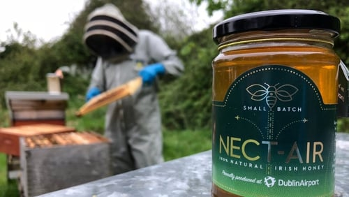 The honey, branded Nect-Air, has been put on the menu in the airport's executive lounges
