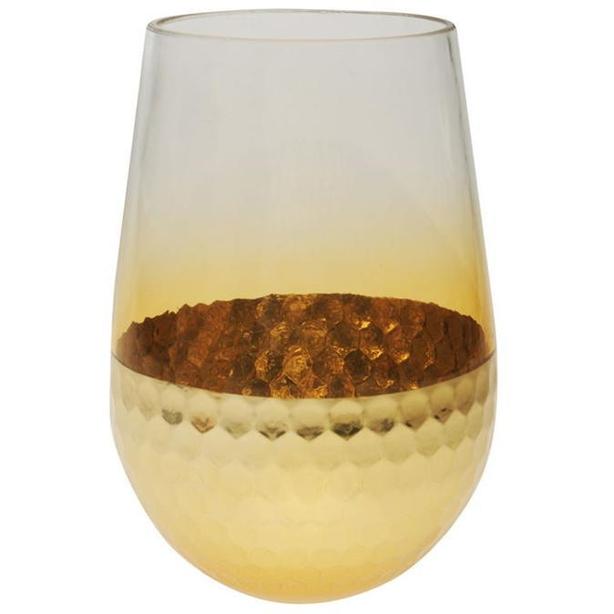 Heatons gold jar vase honeycomb