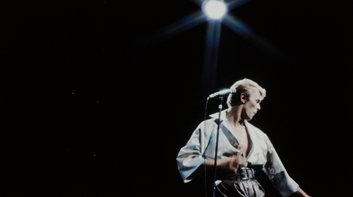 David Bowie live in Tokyo in 1978. Photo: Koh Hasebe/Shinko Music/Getty Images