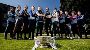 Representatives from the 11 Leinster football contenders