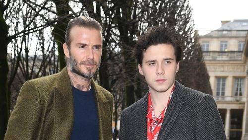 David Beckham with his eldest son, Brooklyn