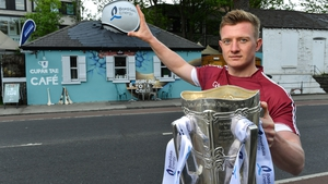 Joe Canning and Liam MacCarthy at the launch of Bord Gáis Energy's 'Summer of Hurling'