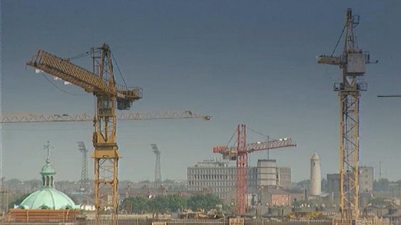 Cranes on Dublin skyline