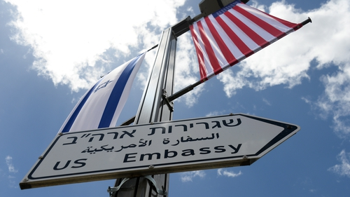 Part of the new embassy will lie in the lands seized by Israel in 1967; an area that is still considered occupied territory by the United Nations