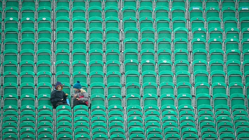 The stands remained virtually empty for the entire day in Malahide