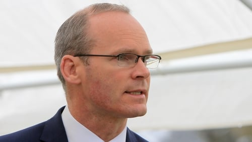 Simon Coveney's trip came ahead of a crunch meeting of the British cabinet on Friday