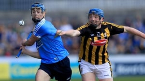 Dublin's Rian McBride with John Donnelly of Kilkenny