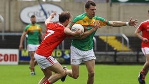 Carlow's Sean Gannon and Anthony Williams of Louth