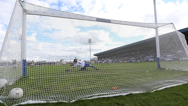 Mark Jackson saves a penalty for Wicklow