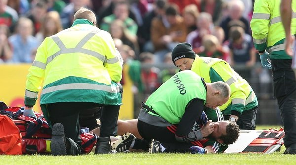 Tom Parsons suffered a serious knee injury against Galway.
