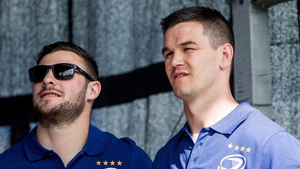 Robbie Henshaw (L) is out of the interprovincial derby