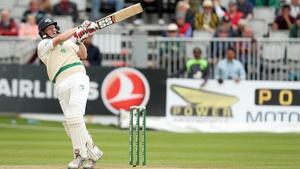 Kevin O'Brien on his way to Ireland's historic first Test century