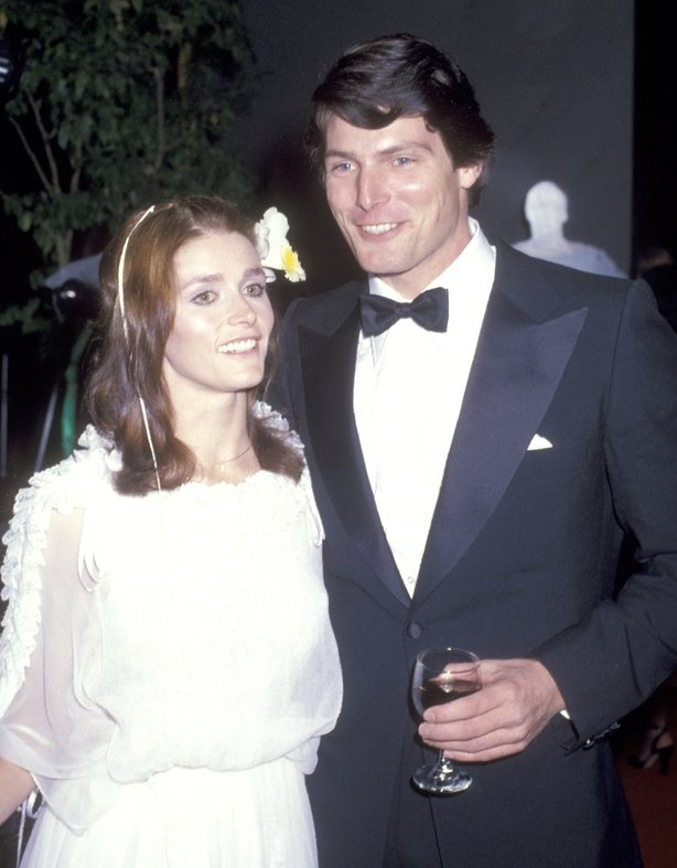 Margot Kidder with her late Superman co-star Christopher Reeve
