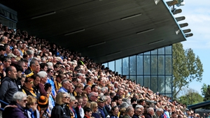 The crowd in Parnell Park for Sunday's Dublin-Kilkenny meeting in the Leinster SHC