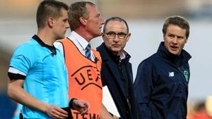 Martin O'Neill and Colin O'Brien speak with Zbynek Proske
