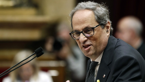 Quim Torra, a hardline separatist, was appointed Catalan president yesterday
