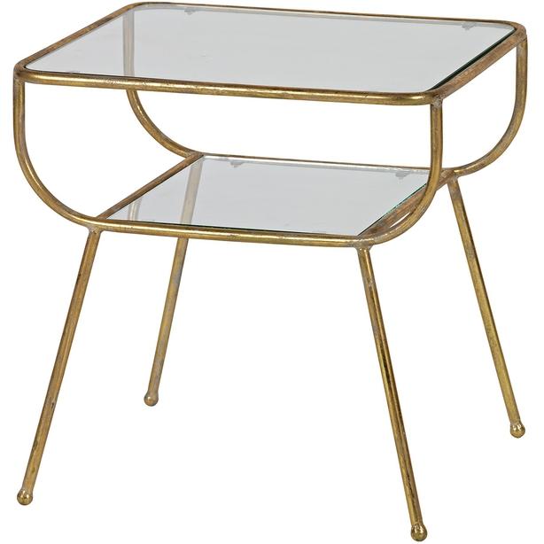 Woo Design brass antique vintage brass side table